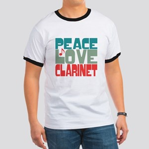 Peace Love Clarinet Ringer T