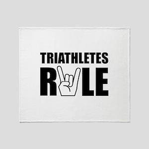 Triathletes Rule Throw Blanket