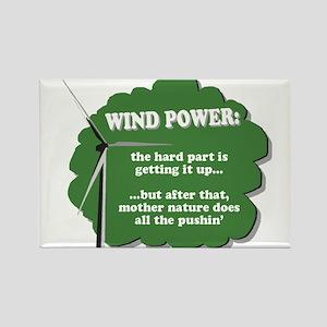 Wind Power Humor Rectangle Magnet
