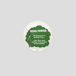 Wind Power Humor Mini Button
