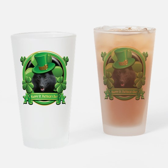Happy St. Patrick's Day Schip Drinking Glass