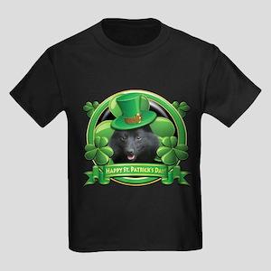 Happy St. Patrick's Day Schip Kids Dark T-Shirt