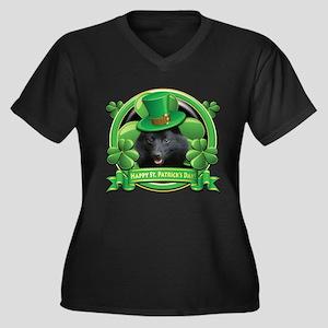 Happy St. Patrick's Day Schip Women's Plus Size V-