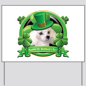 Happy St. Patrick's Day Poodl Yard Sign