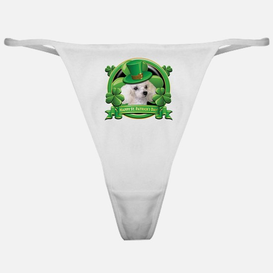 Happy St. Patrick's Day Poodl Classic Thong