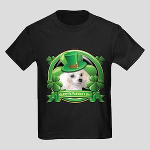 Happy St. Patrick's Day Poodl Kids Dark T-Shirt
