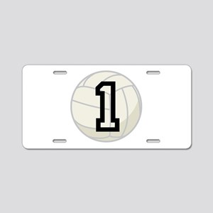 Volleyball Player Number 1 Aluminum License Plate