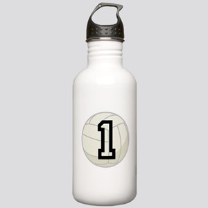 Volleyball Player Number 1 Stainless Water Bottle