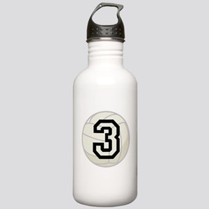 Volleyball Player Number 3 Stainless Water Bottle