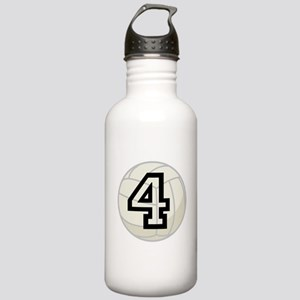 Volleyball Player Number 4 Stainless Water Bottle