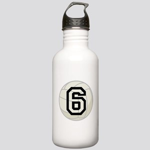 Volleyball Player Number 6 Stainless Water Bottle