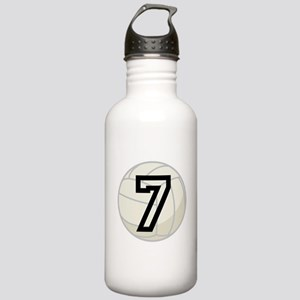 Volleyball Player Number 7 Stainless Water Bottle