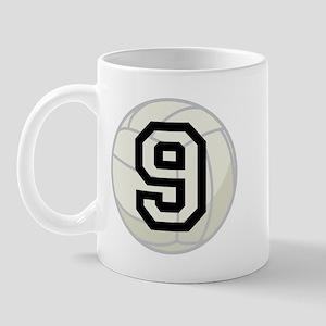 Volleyball Player Number 9 Mug