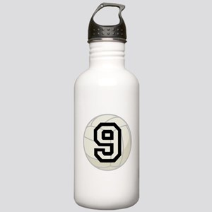 Volleyball Player Number 9 Stainless Water Bottle
