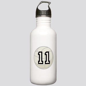 Volleyball Player Number 11 Stainless Water Bottle