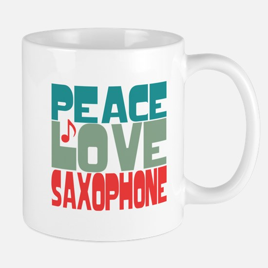 Peace Love Saxophone Mug
