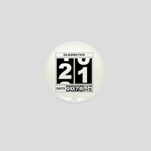 21st Birthday Oldometer Mini Button