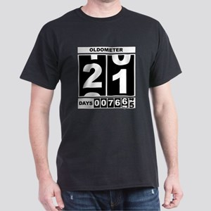 21st Birthday Oldometer Dark T-Shirt