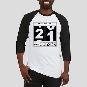 21st Birthday Oldometer Baseball Jersey