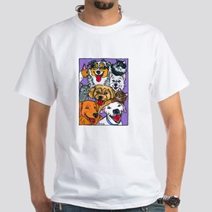 Furry Family White T-Shirt