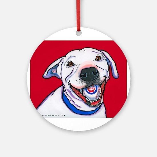 "Pit Bull ""Addy"" Ornament (Round)"