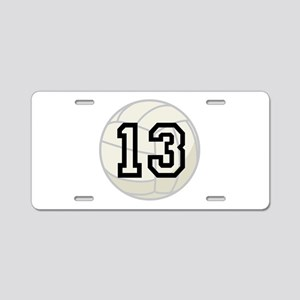 Volleyball Player Number 13 Aluminum License Plate
