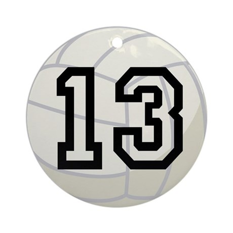 Volleyball Player Number 13 Ornament (Round)