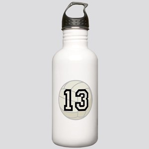 Volleyball Player Number 13 Stainless Water Bottle
