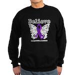 Believe Leiomyosarcoma Sweatshirt (dark)