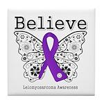 Believe Leiomyosarcoma Tile Coaster