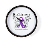 Believe Leiomyosarcoma Wall Clock