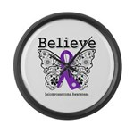 Believe Leiomyosarcoma Large Wall Clock