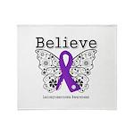 Believe Leiomyosarcoma Throw Blanket