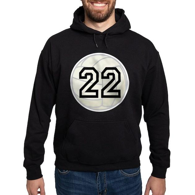 Volleyball Player Number 22 Hoodie (dark)   CafePress.com