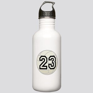 Volleyball Player Number 23 Stainless Water Bottle