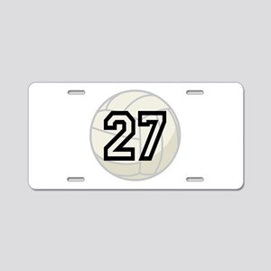 Volleyball Player Number 27 Aluminum License Plate