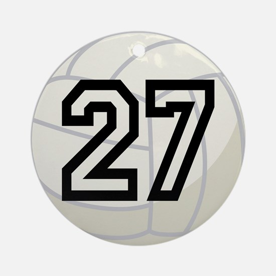 Volleyball Player Number 27 Ornament (Round)
