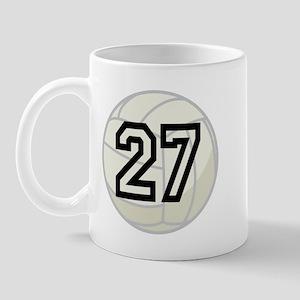 Volleyball Player Number 27 Mug