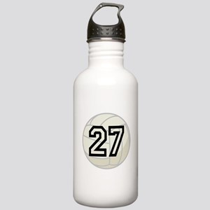 Volleyball Player Number 27 Stainless Water Bottle