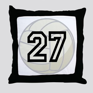 Volleyball Player Number 27 Throw Pillow