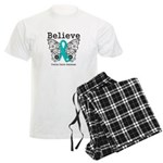 Believe Ovarian Cancer Men's Light Pajamas