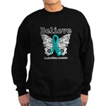 Believe Ovarian Cancer Sweatshirt (dark)