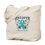 Believe Ovarian Cancer Tote Bag