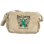 Believe Ovarian Cancer Messenger Bag