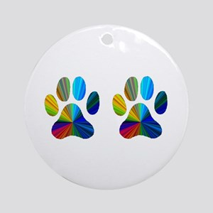 2 PAWS Ornament (Round)