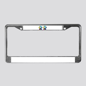 2 PAWS License Plate Frame