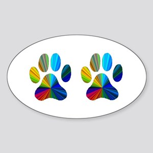 2 PAWS Sticker (Oval)