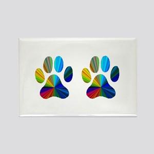 2 PAWS Rectangle Magnet