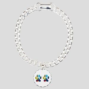 2 PAWS Charm Bracelet, One Charm