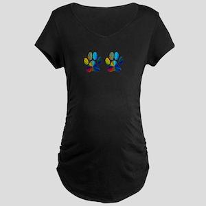 2 PAWS Maternity Dark T-Shirt